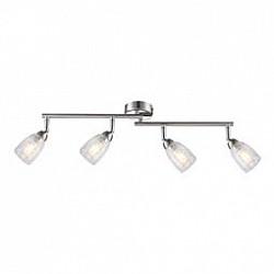 Спот GloboС 4 лампами<br>Артикул - GB_56023-4,Бренд - Globo (Австрия),Коллекция - Crash,Гарантия, месяцы - 24,Размер упаковки, мм - 150x90x390,Тип лампы - светодиодная [LED],Общее кол-во ламп - 4,Напряжение питания лампы, В - 220,Максимальная мощность лампы, Вт - 3,Лампы в комплекте - светодиодные [LED] G9,Цвет плафонов и подвесок - неокрашенный,Тип поверхности плафонов - прозрачный,Материал плафонов и подвесок - стекло,Цвет арматуры - никель, хром,Тип поверхности арматуры - глянцевый, сатин,Материал арматуры - металл,Возможность подлючения диммера - нельзя,Форма и тип колбы - пальчиковая,Тип цоколя лампы - G9,Класс электробезопасности - I,Общая мощность, Вт - 12,Степень пылевлагозащиты, IP - 20,Диапазон рабочих температур - комнатная температура,Дополнительные параметры - способ крепления светильника к стене и потолку - на монтажной пластине, поворотный светильник<br>