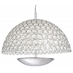Подвесной светильник ST-LuceС 1 плафоном<br>Артикул - SL781.113.01,Бренд - ST-Luce (Китай),Коллекция - Satellite,Гарантия, месяцы - 24,Высота, мм - 1200,Диаметр, мм - 410,Размер упаковки, мм - 470x400x485,Тип лампы - светодиодная [LED],Общее кол-во ламп - 1,Максимальная мощность лампы, Вт - 15,Лампы в комплекте - светодиодная [LED],Цвет плафонов и подвесок - неокрашенный,Тип поверхности плафонов - прозрачный,Материал плафонов и подвесок - хрусталь,Цвет арматуры - хром,Тип поверхности арматуры - глянцевый,Материал арматуры - металл,Возможность подлючения диммера - нельзя,Класс электробезопасности - I,Степень пылевлагозащиты, IP - 20,Диапазон рабочих температур - комнатная температура,Дополнительные параметры - способ крепления светильника к потолку – на монтажной пластине<br>