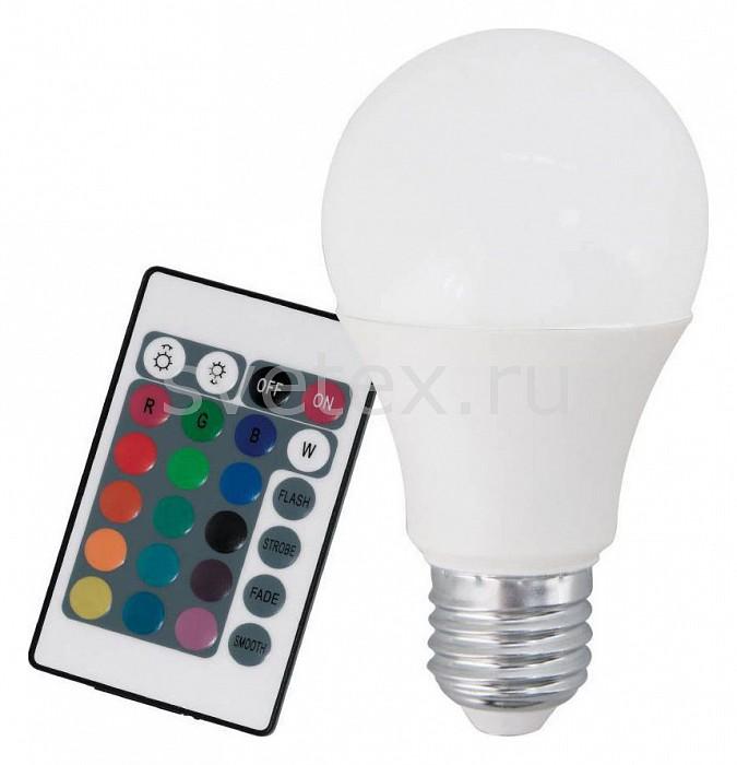Лампа светодиодная диммируемая с пультом ДУ Egloлампы энергосберегающие светодиодные<br>Артикул - EG_10899,Бренд - Eglo (Австрия),Коллекция - A60,Время изготовления, дней - 1,Высота, мм - 110,Диаметр, мм - 60,Тип лампы - светодиодная [LED],Напряжение питания лампы, В - 220,Максимальная мощность лампы, Вт - 7.5,Цвет лампы - белый теплый, RGB,Наличие выключателя, диммера или пульта ДУ - пульт ДУ,Возможность подлючения диммера - можно,Форма и тип колбы - груша круглая матовая,Тип цоколя лампы - E27,Цветовая температура, K - 3000 K,Световой поток, лм - 470,Экономичнее лампы накаливания - в 6.3 раза,Светоотдача, лм/Вт - 63,Ресурс лампы - 15 тыс. часов,Класс энергопотребления - A<br>