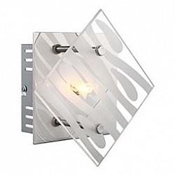Накладной светильник GloboКвадратные<br>Артикул - GB_48694-1,Бренд - Globo (Австрия),Коллекция - Carat,Гарантия, месяцы - 24,Размер упаковки, мм - 140x60x140,Тип лампы - галогеновая,Общее кол-во ламп - 1,Напряжение питания лампы, В - 220,Максимальная мощность лампы, Вт - 33,Лампы в комплекте - галогеновая G9,Цвет плафонов и подвесок - неокрашенный полосатый,Тип поверхности плафонов - матовый, прозрачный,Материал плафонов и подвесок - стекло,Цвет арматуры - хром,Тип поверхности арматуры - глянцевый,Материал арматуры - металл,Возможность подлючения диммера - можно,Форма и тип колбы - пальчиковая,Тип цоколя лампы - G9,Класс электробезопасности - I,Степень пылевлагозащиты, IP - 20,Диапазон рабочих температур - комнатная температура,Дополнительные параметры - способ крепления светильника к стене и потолку - на монтажной пластине<br>