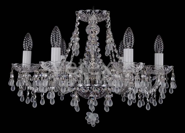 Фото Подвесная люстра Bohemia Ivele Crystal 1410 1410/6/195/Ni/0300