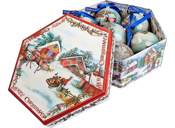 Елочный шар Mister ChristmasЕлочные игрушки<br>Артикул - MC_PM-13-7,Бренд - Mister Christmas (Россия),Коллекция - PM-13,Диаметр, мм - 75,Диаметр - 7.5 см,Цвет - белый, красный,Материал - папье-маше<br>