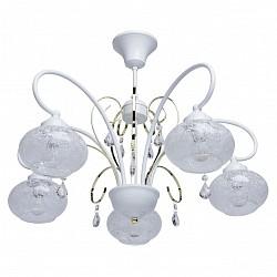 Люстра на штанге MW-Light5 или 6 ламп<br>Артикул - MW_297012905,Бренд - MW-Light (Германия),Коллекция - Мечта 3,Гарантия, месяцы - 24,Высота, мм - 470,Диаметр, мм - 600,Тип лампы - компактная люминесцентная [КЛЛ] ИЛИнакаливания ИЛИсветодиодная [LED],Общее кол-во ламп - 5,Напряжение питания лампы, В - 220,Максимальная мощность лампы, Вт - 60,Лампы в комплекте - отсутствуют,Цвет плафонов и подвесок - неокрашенный с рисунком,Тип поверхности плафонов - матовый, прозрачный,Материал плафонов и подвесок - стекло, хрусталь,Цвет арматуры - белый с золотом,Тип поверхности арматуры - матовый,Материал арматуры - металл,Возможность подлючения диммера - можно, если установить лампу накаливания,Тип цоколя лампы - E14,Класс электробезопасности - I,Общая мощность, Вт - 300,Степень пылевлагозащиты, IP - 20,Диапазон рабочих температур - комнатная температура,Дополнительные параметры - способ крепления светильника на потолке - на крюке<br>