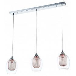 Подвесной светильник MaytoniСветодиодные<br>Артикул - MY_MOD559-03-N,Бренд - Maytoni (Германия),Коллекция - Wabe,Гарантия, месяцы - 24,Высота, мм - 800,Тип лампы - компактная люминесцентная (КЛЛ) ИЛИнакаливания ИЛИсветодиодная (LED),Общее кол-во ламп - 3,Напряжение питания лампы, В - 220,Максимальная мощность лампы, Вт - 60,Лампы в комплекте - отсутствуют,Цвет плафонов и подвесок - неокрашенный, хром,Тип поверхности плафонов - глянцевый, прозрачный,Материал плафонов и подвесок - металл, стекло,Цвет арматуры - хром,Тип поверхности арматуры - глянцевый,Материал арматуры - металл,Возможность подлючения диммера - можно, если установить лампу накаливания,Тип цоколя лампы - E14,Класс электробезопасности - I,Общая мощность, Вт - 180,Степень пылевлагозащиты, IP - 20,Диапазон рабочих температур - комнатная температура,Дополнительные параметры - регулируется по длина, способ крепление светильника к потолку — на монтажной пластине<br>