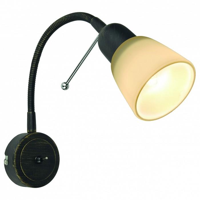 Бра Arte LampТочечные светильники<br>Артикул - AR_A7009AP-1BR,Бренд - Arte Lamp (Италия),Коллекция - Lettura,Гарантия, месяцы - 24,Ширина, мм - 70,Высота, мм - 250,Выступ, мм - 90,Тип лампы - компактная люминесцентная [КЛЛ] ИЛИнакаливания ИЛИсветодиодная [LED],Общее кол-во ламп - 1,Напряжение питания лампы, В - 220,Максимальная мощность лампы, Вт - 40,Лампы в комплекте - отсутствуют,Цвет плафонов и подвесок - белый,Тип поверхности плафонов - матовый,Материал плафонов и подвесок - стекло,Цвет арматуры - коричневый,Тип поверхности арматуры - матовый,Материал арматуры - металл,Количество плафонов - 1,Наличие выключателя, диммера или пульта ДУ - выключатель,Возможность подлючения диммера - можно, если установить лампу накаливания,Тип цоколя лампы - E14,Класс электробезопасности - I,Степень пылевлагозащиты, IP - 20,Диапазон рабочих температур - комнатная температура,Дополнительные параметры - способ крепления светильника к стене - на монтажной пластине, светильник предназначен для использования со скрытой проводкой<br>