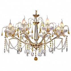 Подвесная люстра IDLampБолее 6 ламп<br>Артикул - ID_258_8-Gold,Бренд - IDLamp (Италия),Коллекция - 258,Гарантия, месяцы - 24,Высота, мм - 530,Диаметр, мм - 770,Тип лампы - компактная люминесцентная [КЛЛ] ИЛИнакаливания ИЛИсветодиодная [LED],Общее кол-во ламп - 8,Напряжение питания лампы, В - 220,Максимальная мощность лампы, Вт - 60,Лампы в комплекте - отсутствуют,Цвет плафонов и подвесок - неокрашенный, янтарный,Тип поверхности плафонов - прозрачный,Материал плафонов и подвесок - хрусталь,Цвет арматуры - золото,Тип поверхности арматуры - глянцевый,Материал арматуры - металл,Возможность подлючения диммера - можно, если установить лампу накаливания,Тип цоколя лампы - E14,Класс электробезопасности - I,Общая мощность, Вт - 480,Степень пылевлагозащиты, IP - 20,Диапазон рабочих температур - комнатная температура<br>