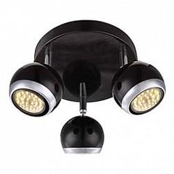Спот GloboС 3 лампами<br>Артикул - GB_57884-3O,Бренд - Globo (Австрия),Коллекция - Oman,Гарантия, месяцы - 24,Диаметр, мм - 180,Размер упаковки, мм - 200x200x110,Тип лампы - галогеновая ИЛИсветодиодная [LED],Общее кол-во ламп - 3,Напряжение питания лампы, В - 220,Максимальная мощность лампы, Вт - 50,Лампы в комплекте - отсутствуют,Цвет плафонов и подвесок - черный с хромированной каймой,Тип поверхности плафонов - глянцевый, матовый,Материал плафонов и подвесок - металл,Цвет арматуры - хром, черный,Тип поверхности арматуры - глянцевый, матовый,Материал арматуры - металл,Возможность подлючения диммера - нельзя,Форма и тип колбы - полусферическая с рефлектором,Тип цоколя лампы - GU10,Класс электробезопасности - I,Степень пылевлагозащиты, IP - 20,Диапазон рабочих температур - комнатная температура,Дополнительные параметры - способ крепления светильника к потолку и стене - на монтажной пластине, поворотный светильник<br>