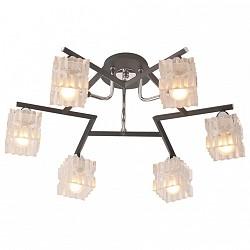 Потолочная люстра IDLamp5 или 6 ламп<br>Артикул - ID_205_6PF-Blackchrome,Бренд - IDLamp (Италия),Коллекция - 205,Высота, мм - 250,Диаметр, мм - 600,Тип лампы - компактная люминесцентная [КЛЛ] ИЛИнакаливания ИЛИсветодиодная [LED],Общее кол-во ламп - 6,Напряжение питания лампы, В - 220,Максимальная мощность лампы, Вт - 60,Лампы в комплекте - отсутствуют,Цвет плафонов и подвесок - неокрашенный,Тип поверхности плафонов - матовый, рельефный,Материал плафонов и подвесок - стекло,Цвет арматуры - хром, черный,Тип поверхности арматуры - глянцевый, матовый,Материал арматуры - металл,Возможность подлючения диммера - можно, если установить лампу накаливания,Тип цоколя лампы - E14,Класс электробезопасности - I,Общая мощность, Вт - 360,Степень пылевлагозащиты, IP - 20,Диапазон рабочих температур - комнатная температура,Дополнительные параметры - способ крепления светильника к потолку – на монтажной пластине<br>