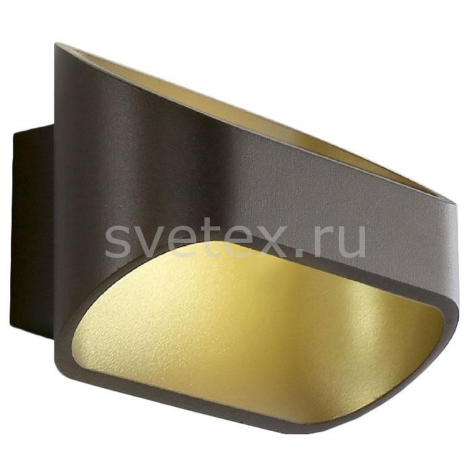 Накладной светильник Crystal LuxСветодиодные<br>Артикул - CU_1400_424,Бренд - Crystal Lux (Испания),Коллекция - Clt 510,Гарантия, месяцы - 24,Время изготовления, дней - 1,Ширина, мм - 160,Высота, мм - 100,Выступ, мм - 91,Тип лампы - светодиодная [LED],Общее кол-во ламп - 1,Напряжение питания лампы, В - 220,Максимальная мощность лампы, Вт - 6,Цвет лампы - белый,Лампы в комплекте - светодиодная [LED],Цвет плафонов и подвесок - золотой, кофейный,Тип поверхности плафонов - матовый,Материал плафонов и подвесок - металл,Цвет арматуры - кофейный,Тип поверхности арматуры - матовый,Материал арматуры - металл,Количество плафонов - 1,Возможность подлючения диммера - нельзя,Цветовая температура, K - 4000 K,Световой поток, лм - 540,Экономичнее лампы накаливания - в 8.8 раза,Светоотдача, лм/Вт - 90,Класс электробезопасности - I,Степень пылевлагозащиты, IP - 20,Диапазон рабочих температур - комнатная температура,Дополнительные параметры - светильник предназначен для использования со скрытой проводкой<br>