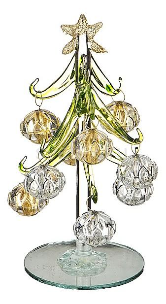 Ель новогодняя с елочными шарами АРТИ-МЕли новогодние<br>Артикул - art_594-100,Бренд - АРТИ-М (Россия),Коллекция - ART 594,Высота, мм - 150,Цвет - золотой, серебряный,Материал - стекло,Компоненты, входящие в комплект - ель новогодняя;8 елочных шаров<br>