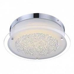 Накладной светильник GloboКруглые<br>Артикул - GB_49315,Бренд - Globo (Австрия),Коллекция - Leah,Гарантия, месяцы - 24,Высота, мм - 105,Диаметр, мм - 360,Тип лампы - светодиодная [LED],Общее кол-во ламп - 1,Напряжение питания лампы, В - 57.6,Максимальная мощность лампы, Вт - 18,Лампы в комплекте - светодиодная [LED],Цвет плафонов и подвесок - неокрашенный,Тип поверхности плафонов - матовый, прозрачный,Материал плафонов и подвесок - стекло, хрусталь K5,Цвет арматуры - хром,Тип поверхности арматуры - глянцевый,Материал арматуры - металл,Возможность подлючения диммера - нельзя,Класс электробезопасности - I,Степень пылевлагозащиты, IP - 20,Диапазон рабочих температур - комнатная температура<br>