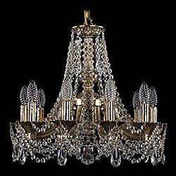 Подвесная люстра Bohemia Ivele CrystalБолее 6 ламп<br>Артикул - BI_1771_10_150_C_GB,Бренд - Bohemia Ivele Crystal (Чехия),Коллекция - 1771,Гарантия, месяцы - 24,Высота, мм - 440,Диаметр, мм - 520,Размер упаковки, мм - 450x450x200,Тип лампы - компактная люминесцентная [КЛЛ] ИЛИнакаливания ИЛИсветодиодная [LED],Общее кол-во ламп - 10,Напряжение питания лампы, В - 220,Максимальная мощность лампы, Вт - 40,Лампы в комплекте - отсутствуют,Цвет плафонов и подвесок - неокрашенный,Тип поверхности плафонов - прозрачный,Материал плафонов и подвесок - хрусталь,Цвет арматуры - золото черненое,Тип поверхности арматуры - глянцевый, рельефный,Материал арматуры - латунь,Возможность подлючения диммера - можно, если установить лампу накаливания,Форма и тип колбы - свеча ИЛИ свеча на ветру,Тип цоколя лампы - E14,Класс электробезопасности - I,Общая мощность, Вт - 400,Степень пылевлагозащиты, IP - 20,Диапазон рабочих температур - комнатная температура,Дополнительные параметры - способ крепления светильника к потолку - на крюке, указана высота светильника без подвеса<br>