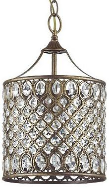 Подвесной светильник Odeon LightБарные<br>Артикул - OD_3293_1,Бренд - Odeon Light (Италия),Коллекция - Ivaro,Гарантия, месяцы - 24,Высота, мм - 225-1205,Диаметр, мм - 225,Тип лампы - компактная люминесцентная [КЛЛ] ИЛИнакаливания ИЛИсветодиодная [LED],Общее кол-во ламп - 1,Напряжение питания лампы, В - 220,Максимальная мощность лампы, Вт - 60,Лампы в комплекте - отсутствуют,Цвет плафонов и подвесок - коричневый, неокрашенный,Тип поверхности плафонов - глянцевый, матовый, прозрачный,Материал плафонов и подвесок - металл, хрусталь,Цвет арматуры - коричневый с золотой патиной,Тип поверхности арматуры - глянцевый, матовый,Материал арматуры - металл,Количество плафонов - 1,Возможность подлючения диммера - можно, если установить лампу накаливания,Тип цоколя лампы - E27,Класс электробезопасности - I,Степень пылевлагозащиты, IP - 20,Диапазон рабочих температур - комнатная температура,Дополнительные параметры - способ крепления светильника к потолку - на монтажной пластине, светильник регулируется по высоте<br>