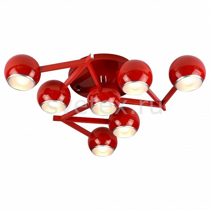 Потолочная люстра ST-LuceСветильники<br>Артикул - SL853.602.07,Бренд - ST-Luce (Китай),Коллекция - Rottura,Гарантия, месяцы - 24,Высота, мм - 120,Диаметр, мм - 600,Размер упаковки, мм - 680x630x160,Тип лампы - компактная люминесцентная [КЛЛ] ИЛИнакаливания ИЛИсветодиодная [LED],Общее кол-во ламп - 7,Напряжение питания лампы, В - 220,Максимальная мощность лампы, Вт - 40,Лампы в комплекте - отсутствуют,Цвет плафонов и подвесок - красный с каймой,Тип поверхности плафонов - глянцевый,Материал плафонов и подвесок - металл,Цвет арматуры - красный,Тип поверхности арматуры - глянцевый,Материал арматуры - металл,Количество плафонов - 7,Возможность подлючения диммера - можно, если установить лампу накаливания,Тип цоколя лампы - E14,Класс электробезопасности - I,Общая мощность, Вт - 280,Степень пылевлагозащиты, IP - 20,Диапазон рабочих температур - комнатная температура,Дополнительные параметры - способ крепления светильника к потолку - на монтажной пластине<br>