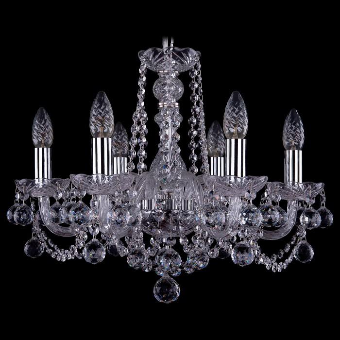 Подвесная люстра Bohemia Ivele Crystal5 или 6 ламп<br>Артикул - BI_1402_6_160_Ni_Balls,Бренд - Bohemia Ivele Crystal (Чехия),Коллекция - 1402,Гарантия, месяцы - 24,Высота, мм - 390,Диаметр, мм - 480,Размер упаковки, мм - 450x450x200,Тип лампы - компактная люминесцентная [КЛЛ] ИЛИнакаливания ИЛИсветодиодная [LED],Общее кол-во ламп - 6,Напряжение питания лампы, В - 220,Максимальная мощность лампы, Вт - 40,Лампы в комплекте - отсутствуют,Цвет плафонов и подвесок - неокрашенный,Тип поверхности плафонов - прозрачный,Материал плафонов и подвесок - хрусталь,Цвет арматуры - неокрашенный, никель,Тип поверхности арматуры - глянцевый, прозрачный, рельефный,Материал арматуры - металл, стекло,Возможность подлючения диммера - можно, если установить лампу накаливания,Форма и тип колбы - свеча ИЛИ свеча на ветру,Тип цоколя лампы - E14,Класс электробезопасности - I,Общая мощность, Вт - 240,Степень пылевлагозащиты, IP - 20,Диапазон рабочих температур - комнатная температура,Дополнительные параметры - способ крепления светильника к потолку - на крюке, указана высота светильника без подвеса<br>