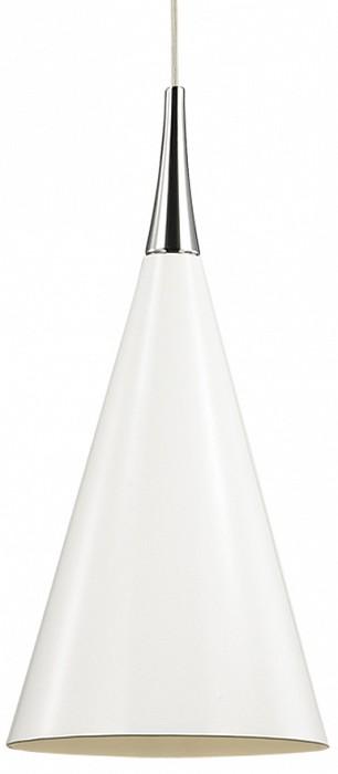 Подвесной светильник Odeon LightБарные<br>Артикул - OD_2863_1,Бренд - Odeon Light (Италия),Коллекция - Konus,Гарантия, месяцы - 24,Высота, мм - 305-1200,Диаметр, мм - 200,Тип лампы - компактная люминесцентная [КЛЛ] ИЛИнакаливания ИЛИсветодиодная [LED],Общее кол-во ламп - 1,Напряжение питания лампы, В - 220,Максимальная мощность лампы, Вт - 60,Лампы в комплекте - отсутствуют,Цвет плафонов и подвесок - белый,Тип поверхности плафонов - матовый,Материал плафонов и подвесок - металл,Цвет арматуры - белый,Тип поверхности арматуры - матовый,Материал арматуры - металл,Количество плафонов - 1,Возможность подлючения диммера - можно, если установить лампу накаливания,Тип цоколя лампы - E27,Класс электробезопасности - I,Степень пылевлагозащиты, IP - 20,Диапазон рабочих температур - комнатная температура,Дополнительные параметры - способ крепления светильника на потолке - на крюке, регулируется по высоте<br>