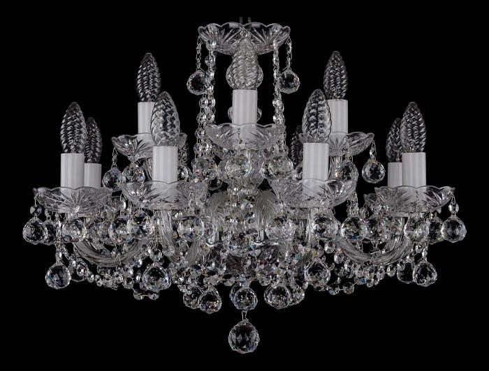 Фото Подвесная люстра Bohemia Ivele Crystal 1402 1402/8_4/195/Ni/Balls