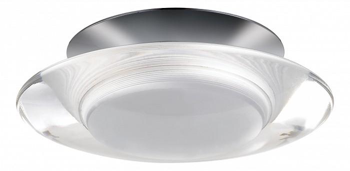 Встраиваемый светильник NovotechКруглые<br>Артикул - NV_357153,Бренд - Novotech (Венгрия),Коллекция - Calura,Гарантия, месяцы - 24,Время изготовления, дней - 1,Высота, мм - 70,Выступ, мм - 50,Глубина, мм - 20,Диаметр, мм - 98,Размер врезного отверстия, мм - 60,Тип лампы - светодиодная [LED],Общее кол-во ламп - 6,Напряжение питания лампы, В - 220,Максимальная мощность лампы, Вт - 0.5,Цвет лампы - белый,Лампы в комплекте - светодиодные [LED],Цвет плафонов и подвесок - неокрашенный,Тип поверхности плафонов - матовый,Материал плафонов и подвесок - акрил,Цвет арматуры - хром,Тип поверхности арматуры - глянцевый,Материал арматуры - алюминий,Количество плафонов - 1,Возможность подлючения диммера - нельзя,Цветовая температура, K - 4000 K,Световой поток, лм - 180,Экономичнее лампы накаливания - в 10.3 раза,Светоотдача, лм/Вт - 60,Класс электробезопасности - III,Общая мощность, Вт - 3,Степень пылевлагозащиты, IP - 20,Диапазон рабочих температур - комнатная температура<br>