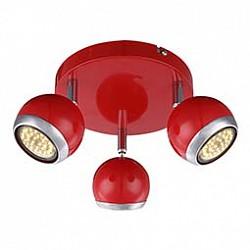 Спот GloboС 3 лампами<br>Артикул - GB_57885-3,Бренд - Globo (Австрия),Коллекция - Oman,Гарантия, месяцы - 24,Диаметр, мм - 180,Размер упаковки, мм - 200x200x110,Тип лампы - светодиодная [LED],Общее кол-во ламп - 3,Напряжение питания лампы, В - 220,Максимальная мощность лампы, Вт - 3,Лампы в комплекте - светодиодные [LED] GU10,Цвет плафонов и подвесок - красный с хромированной каймой,Тип поверхности плафонов - глянцевый, матовый,Материал плафонов и подвесок - металл,Цвет арматуры - красный, хром,Тип поверхности арматуры - глянцевый, матовый,Материал арматуры - металл,Возможность подлючения диммера - нельзя,Форма и тип колбы - полусферическая с рефлектором,Тип цоколя лампы - GU10,Класс электробезопасности - I,Общая мощность, Вт - 9,Степень пылевлагозащиты, IP - 20,Диапазон рабочих температур - комнатная температура,Дополнительные параметры - способ крепления светильника к стене и потолку - на монтажной пластине, поворотный светильник<br>