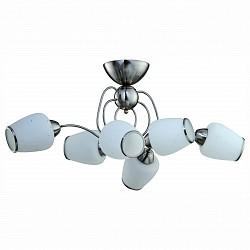 Потолочная люстра IDLamp5 или 6 ламп<br>Артикул - ID_816_6PF-whitechrome,Бренд - IDLamp (Италия),Коллекция - 816,Гарантия, месяцы - 24,Время изготовления, дней - 1,Высота, мм - 370,Тип лампы - компактная люминесцентная [КЛЛ] ИЛИнакаливания ИЛИсветодиодная [LED],Общее кол-во ламп - 6,Напряжение питания лампы, В - 220,Максимальная мощность лампы, Вт - 60,Лампы в комплекте - отсутствуют,Цвет плафонов и подвесок - белый с каймой,Тип поверхности плафонов - матовый,Материал плафонов и подвесок - стекло,Цвет арматуры - никель,Тип поверхности арматуры - глянцевый,Материал арматуры - металл,Возможность подлючения диммера - можно, если установить лампу накаливания,Тип цоколя лампы - E27,Класс электробезопасности - I,Общая мощность, Вт - 360,Степень пылевлагозащиты, IP - 20,Диапазон рабочих температур - комнатная температура,Дополнительные параметры - способ крепления светильника к потолку — на монтажной пластине<br>