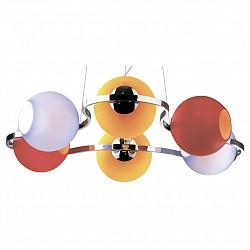 Подвесная люстра Odeon Light5 или 6 ламп<br>Артикул - OD_2540_6,Бренд - Odeon Light (Италия),Коллекция - Bani,Гарантия, месяцы - 24,Высота, мм - 1200,Диаметр, мм - 700,Тип лампы - компактная люминесцентная [КЛЛ] ИЛИнакаливания ИЛИсветодиодная [LED],Общее кол-во ламп - 6,Напряжение питания лампы, В - 220,Максимальная мощность лампы, Вт - 40,Лампы в комплекте - отсутствуют,Цвет плафонов и подвесок - красная, оранжевый, фиолетовый,Тип поверхности плафонов - матовый,Материал плафонов и подвесок - стекло,Цвет арматуры - хром,Тип поверхности арматуры - глянцевый,Материал арматуры - металл,Возможность подлючения диммера - можно, если установить лампу накаливания,Тип цоколя лампы - E14,Класс электробезопасности - I,Общая мощность, Вт - 240,Степень пылевлагозащиты, IP - 20,Диапазон рабочих температур - комнатная температура<br>