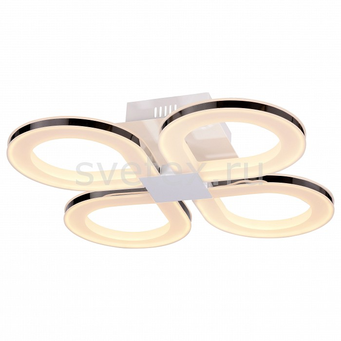 Потолочная люстра ST-LuceПолимерные плафоны<br>Артикул - SL869.552.04,Бренд - ST-Luce (Италия),Коллекция - Twiddle,Гарантия, месяцы - 24,Длина, мм - 500,Ширина, мм - 500,Высота, мм - 110,Размер упаковки, мм - 570x570x190,Тип лампы - светодиодная [LED],Общее кол-во ламп - 4,Максимальная мощность лампы, Вт - 19,Цвет лампы - белый теплый,Лампы в комплекте - светодиодные [LED],Цвет плафонов и подвесок - белый,Тип поверхности плафонов - матовый,Материал плафонов и подвесок - акрил,Цвет арматуры - белый, хром,Тип поверхности арматуры - глянцевый, матовый,Материал арматуры - металл,Количество плафонов - 4,Возможность подлючения диммера - нельзя,Цветовая температура, K - 3200 K,Экономичнее лампы накаливания - в 10 раз,Класс электробезопасности - I,Напряжение питания, В - 220,Общая мощность, Вт - 76,Степень пылевлагозащиты, IP - 20,Диапазон рабочих температур - комнатная температура,Дополнительные параметры - способ крепления светильника к потолку - на монтажной пластине<br>