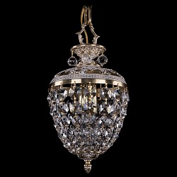 Подвесной светильник Bohemia Ivele CrystalБез плафонов<br>Артикул - BI_1777_17_GW,Бренд - Bohemia Ivele Crystal (Чехия),Коллекция - 1777,Гарантия, месяцы - 24,Высота, мм - 280,Диаметр, мм - 170,Размер упаковки, мм - 250x180x170,Тип лампы - компактная люминесцентная [КЛЛ] ИЛИнакаливания ИЛИсветодиодная [LED],Общее кол-во ламп - 1,Напряжение питания лампы, В - 220,Максимальная мощность лампы, Вт - 40,Лампы в комплекте - отсутствуют,Цвет плафонов и подвесок - неокрашенный,Тип поверхности плафонов - прозрачный,Материал плафонов и подвесок - хрусталь,Цвет арматуры - золото беленое,Тип поверхности арматуры - глянцевый, рельефный,Материал арматуры - латунь,Возможность подлючения диммера - можно, если установить лампу накаливания,Тип цоколя лампы - E14,Класс электробезопасности - I,Степень пылевлагозащиты, IP - 20,Диапазон рабочих температур - комнатная температура,Дополнительные параметры - способ крепления светильника к потолку - на крюке, указана высота светильника без подвеса<br>