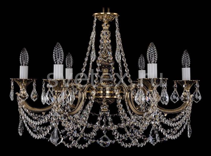 Фото Подвесная люстра Bohemia Ivele Crystal 1702 1702/6/C/GB/Leafs