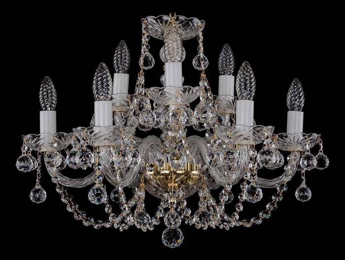 Фото Подвесная люстра Bohemia Ivele Crystal 1406 1406/6_3/195/G/Balls