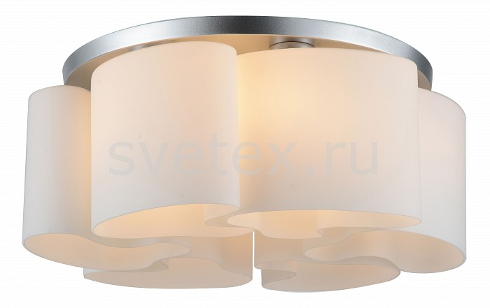 Накладной светильник ST-LuceСветодиодные<br>Артикул - SL545.502.06,Бренд - ST-Luce (Китай),Коллекция - Nuvole,Гарантия, месяцы - 24,Время изготовления, дней - 1,Высота, мм - 230,Диаметр, мм - 600,Размер упаковки, мм - 720х580х360,Тип лампы - компактная люминесцентная [КЛЛ] ИЛИнакаливания ИЛИсветодиодная [LED],Общее кол-во ламп - 6,Напряжение питания лампы, В - 220,Максимальная мощность лампы, Вт - 40,Лампы в комплекте - отсутствуют,Цвет плафонов и подвесок - белый,Тип поверхности плафонов - матовый,Материал плафонов и подвесок - стекло,Цвет арматуры - серебро,Тип поверхности арматуры - матовый,Материал арматуры - металл,Количество плафонов - 6,Возможность подлючения диммера - можно, если установить лампу накаливания,Тип цоколя лампы - E27,Класс электробезопасности - I,Общая мощность, Вт - 240,Степень пылевлагозащиты, IP - 20,Диапазон рабочих температур - комнатная температура,Дополнительные параметры - способ крепления светильника к потолку - на монтажной пластине<br>
