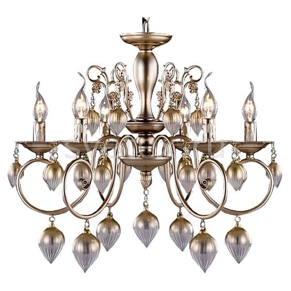 Подвесная люстра Crystal Lux5 или 6 ламп<br>Артикул - CU_3330_206,Бренд - Crystal Lux (Испания),Коллекция - Veronica,Гарантия, месяцы - 24,Высота, мм - 500-738,Диаметр, мм - 597,Тип лампы - компактная люминесцентная [КЛЛ] ИЛИнакаливания ИЛИсветодиодная [LED],Общее кол-во ламп - 6,Напряжение питания лампы, В - 220,Максимальная мощность лампы, Вт - 60,Лампы в комплекте - отсутствуют,Цвет плафонов и подвесок - кремовый,Тип поверхности плафонов - матовый, рельефный,Материал плафонов и подвесок - стекло,Цвет арматуры - кремовый,Тип поверхности арматуры - матовый,Материал арматуры - металл,Возможность подлючения диммера - можно, если установить лампу накаливания,Форма и тип колбы - свеча ИЛИ свеча на ветру,Тип цоколя лампы - E14,Класс электробезопасности - I,Общая мощность, Вт - 360,Степень пылевлагозащиты, IP - 20,Диапазон рабочих температур - комнатная температура,Дополнительные параметры - регулируется по высоте,  способ крепления светильника к потолку – на крюке<br>