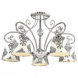 Люстра на штанге Odeon LightТекстильные плафоны<br>Артикул - OD_2926_5C,Бренд - Odeon Light (Италия),Коллекция - Alba,Гарантия, месяцы - 24,Высота, мм - 400,Диаметр, мм - 630,Тип лампы - компактная люминесцентная [КЛЛ] ИЛИнакаливания ИЛИсветодиодная [LED],Общее кол-во ламп - 5,Напряжение питания лампы, В - 220,Максимальная мощность лампы, Вт - 40,Лампы в комплекте - отсутствуют,Цвет плафонов и подвесок - белый с черным рисунком,Тип поверхности плафонов - матовый,Материал плафонов и подвесок - текстиль,Цвет арматуры - неокрашенный, хром,Тип поверхности арматуры - глянцевый, прозрачный,Материал арматуры - металл, стекло,Возможность подлючения диммера - можно, если установить лампу накаливания,Тип цоколя лампы - E27,Класс электробезопасности - I,Общая мощность, Вт - 200,Степень пылевлагозащиты, IP - 20,Диапазон рабочих температур - комнатная температура,Дополнительные параметры - способ крепления светильника на потолке - на монтажной пластине<br>