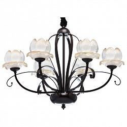 Подвесная люстра MW-Light5 или 6 ламп<br>Артикул - MW_444011906,Бренд - MW-Light (Германия),Коллекция - Вирджиния 6,Гарантия, месяцы - 24,Время изготовления, дней - 1,Высота, мм - 690-1320,Диаметр, мм - 720,Тип лампы - компактная люминесцентная [КЛЛ] ИЛИнакаливания ИЛИсветодиодная [LED],Общее кол-во ламп - 6,Напряжение питания лампы, В - 220,Максимальная мощность лампы, Вт - 40,Лампы в комплекте - отсутствуют,Цвет плафонов и подвесок - янтарный градиентный,Тип поверхности плафонов - прозрачный, рельефный,Материал плафонов и подвесок - стекло,Цвет арматуры - кофейный,Тип поверхности арматуры - матовый,Материал арматуры - металл,Возможность подлючения диммера - можно, если установить лампу накаливания,Тип цоколя лампы - E14,Класс электробезопасности - I,Общая мощность, Вт - 240,Степень пылевлагозащиты, IP - 20,Диапазон рабочих температур - комнатная температура,Дополнительные параметры - способ крепления светильника к потолку – на крюке<br>