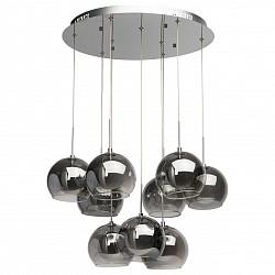 Подвесная люстра ChiaroС пультом управления<br>Артикул - CH_392010809,Бренд - Chiaro (Германия),Коллекция - Фьюжен 4,Гарантия, месяцы - 24,Высота, мм - 1000,Диаметр, мм - 500,Размер упаковки, мм - 560x560x240,Тип лампы - галогеновая,Общее кол-во ламп - 9,Напряжение питания лампы, В - 12,Максимальная мощность лампы, Вт - 20,Лампы в комплекте - галогеновые G4,Цвет плафонов и подвесок - белый, неокрашенный,Тип поверхности плафонов - матовый,Материал плафонов и подвесок - стекло,Цвет арматуры - хром,Тип поверхности арматуры - глянцевый,Материал арматуры - металл,Форма и тип колбы - пальчиковая,Тип цоколя лампы - G4,Класс электробезопасности - I,Общая мощность, Вт - 180,Степень пылевлагозащиты, IP - 20,Диапазон рабочих температур - комнатная температура<br>