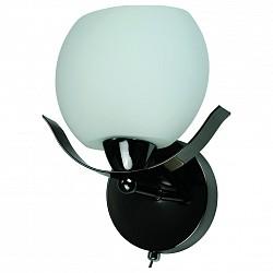 Бра IDLampС 1 лампой<br>Артикул - ID_601_1a-SUNdarkchrome,Бренд - IDLamp (Италия),Коллекция - 601,Гарантия, месяцы - 24,Высота, мм - 220,Тип лампы - компактная люминесцентная [КЛЛ] ИЛИнакаливания ИЛИсветодиодная [LED],Общее кол-во ламп - 1,Напряжение питания лампы, В - 220,Максимальная мощность лампы, Вт - 60,Лампы в комплекте - отсутствуют,Цвет плафонов и подвесок - белый,Тип поверхности плафонов - матовый,Материал плафонов и подвесок - стекло,Цвет арматуры - никель черный,Тип поверхности арматуры - глянцевый,Материал арматуры - металл,Количество плафонов - 1,Возможность подлючения диммера - можно, если установить лампу накаливания,Тип цоколя лампы - E14,Класс электробезопасности - I,Степень пылевлагозащиты, IP - 20,Диапазон рабочих температур - комнатная температура,Дополнительные параметры - светильник предназначен для использования со скрытой проводкой<br>