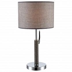 Настольная лампа GloboС абажуром<br>Артикул - GB_24688,Бренд - Globo (Австрия),Коллекция - Umbrella,Гарантия, месяцы - 24,Высота, мм - 530,Диаметр, мм - 280,Тип лампы - компактная люминесцентная [КЛЛ] ИЛИнакаливания ИЛИсветодиодная [LED],Общее кол-во ламп - 1,Напряжение питания лампы, В - 220,Максимальная мощность лампы, Вт - 60,Лампы в комплекте - отсутствуют,Цвет плафонов и подвесок - серый,Тип поверхности плафонов - матовый,Материал плафонов и подвесок - текстиль,Цвет арматуры - серый, хром,Тип поверхности арматуры - глянцевый, матовый,Материал арматуры - металл, полимер,Количество плафонов - 1,Тип цоколя лампы - E27,Класс электробезопасности - II,Степень пылевлагозащиты, IP - 20,Диапазон рабочих температур - комнатная температура<br>