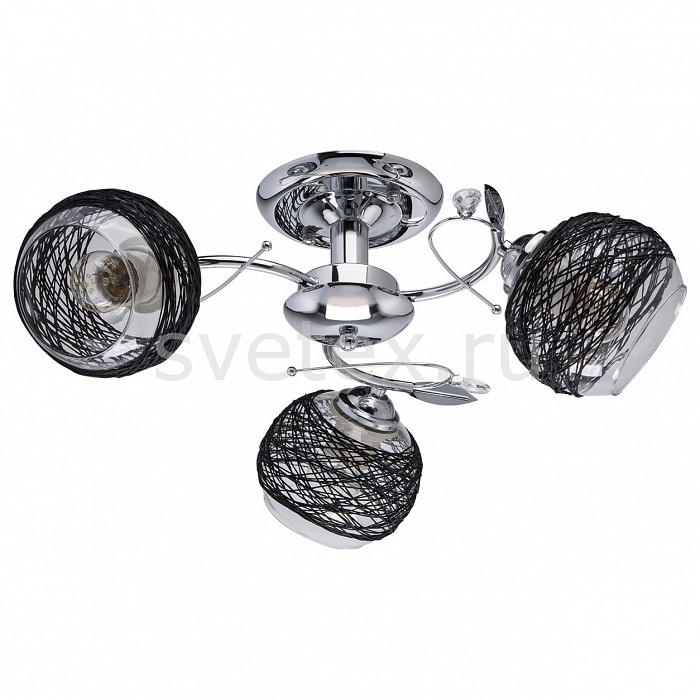Люстра на штанге De MarktТекстильные плафоны<br>Артикул - MW_677012003,Бренд - De Markt (Германия),Коллекция - Грация 36,Гарантия, месяцы - 24,Высота, мм - 200,Диаметр, мм - 500,Тип лампы - компактная люминесцентная [КЛЛ] ИЛИнакаливания ИЛИсветодиодная [LED],Общее кол-во ламп - 3,Напряжение питания лампы, В - 220,Максимальная мощность лампы, Вт - 60,Лампы в комплекте - отсутствуют,Цвет плафонов и подвесок - неокрашенный, черный,Тип поверхности плафонов - матовый, прозрачный,Материал плафонов и подвесок - бечевка, стекло,Цвет арматуры - хром,Тип поверхности арматуры - глянцевый,Материал арматуры - металл,Количество плафонов - 3,Возможность подлючения диммера - можно, если установить лампу накаливания,Тип цоколя лампы - E27,Класс электробезопасности - I,Общая мощность, Вт - 180,Степень пылевлагозащиты, IP - 20,Диапазон рабочих температур - комнатная температура,Дополнительные параметры - способ крепления светильника к потолку – на монтажной пластине<br>