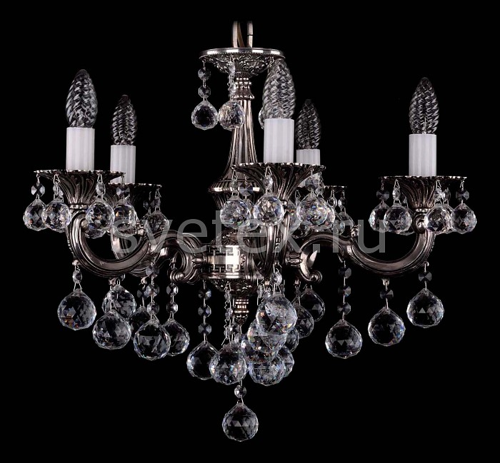Фото Подвесная люстра Bohemia Ivele Crystal 1701 1701/5/B/NB/Balls
