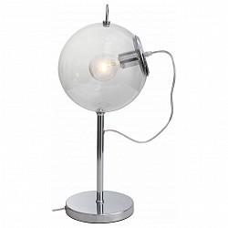 Настольная лампа ST-LuceСтеклянный плафон<br>Артикул - SL550.104.01,Бренд - ST-Luce (Китай),Коллекция - Senza,Гарантия, месяцы - 24,Высота, мм - 560,Диаметр, мм - 250,Тип лампы - компактная люминесцентная [КЛЛ] ИЛИнакаливания ИЛИсветодиодная [LED],Общее кол-во ламп - 1,Напряжение питания лампы, В - 220,Максимальная мощность лампы, Вт - 60,Лампы в комплекте - отсутствуют,Цвет плафонов и подвесок - неокрашенный,Тип поверхности плафонов - прозрачный,Материал плафонов и подвесок - стекло,Цвет арматуры - хром,Тип поверхности арматуры - глянцевый,Материал арматуры - металл,Количество плафонов - 1,Тип цоколя лампы - E27,Класс электробезопасности - II,Степень пылевлагозащиты, IP - 20,Диапазон рабочих температур - комнатная температура<br>