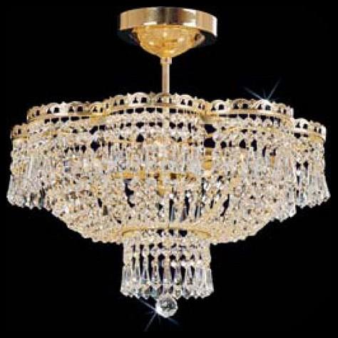 Люстра на штанге PreciosaНе более 4 ламп<br>Артикул - PR_45091400407001001,Бренд - Preciosa (Чехия),Коллекция - Brilliant,Гарантия, месяцы - 24,Время изготовления, дней - 1,Высота, мм - 450,Диаметр, мм - 430,Тип лампы - компактная люминесцентная [КЛЛ] ИЛИнакаливания ИЛИсветодиодная [LED],Общее кол-во ламп - 4,Напряжение питания лампы, В - 220,Максимальная мощность лампы, Вт - 40,Лампы в комплекте - отсутствуют,Цвет плафонов и подвесок - неокрашенный,Тип поверхности плафонов - прозрачный,Материал плафонов и подвесок - хрусталь,Цвет арматуры - латунь,Тип поверхности арматуры - глянцевый,Материал арматуры - металл,Возможность подлючения диммера - можно, если установить лампу накаливания,Тип цоколя лампы - E14,Класс электробезопасности - I,Общая мощность, Вт - 160,Степень пылевлагозащиты, IP - 20,Диапазон рабочих температур - комнатная температура,Дополнительные параметры - масса светильника 4 кг<br>