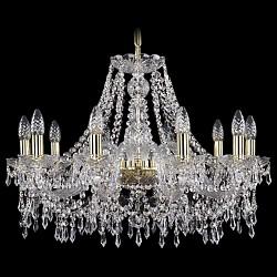 Подвесная люстра Bohemia Ivele CrystalБолее 6 ламп<br>Артикул - BI_1403_10_240_G,Бренд - Bohemia Ivele Crystal (Чехия),Коллекция - 1403,Гарантия, месяцы - 24,Высота, мм - 470,Диаметр, мм - 670,Размер упаковки, мм - 510x510x210,Тип лампы - компактная люминесцентная [КЛЛ] ИЛИнакаливания ИЛИсветодиодная [LED],Общее кол-во ламп - 8,Напряжение питания лампы, В - 220,Максимальная мощность лампы, Вт - 40,Лампы в комплекте - отсутствуют,Цвет плафонов и подвесок - неокрашенный,Тип поверхности плафонов - прозрачный,Материал плафонов и подвесок - хрусталь,Цвет арматуры - золото, неокрашенный,Тип поверхности арматуры - глянцевый, прозрачный, рельефный,Материал арматуры - металл, стекло,Возможность подлючения диммера - можно, если установить лампу накаливания,Форма и тип колбы - свеча ИЛИ свеча на ветру,Тип цоколя лампы - E14,Класс электробезопасности - I,Общая мощность, Вт - 320,Степень пылевлагозащиты, IP - 20,Диапазон рабочих температур - комнатная температура,Дополнительные параметры - способ крепления светильника к потолку - на крюке, указана высота светильника без подвеса<br>