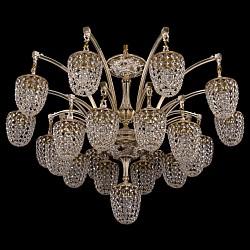 Подвесная люстра Bohemia Ivele CrystalБолее 6 ламп<br>Артикул - BI_1772_20_1_342_GW,Бренд - Bohemia Ivele Crystal (Чехия),Коллекция - 1772,Гарантия, месяцы - 24,Высота, мм - 710,Диаметр, мм - 1040,Размер упаковки, мм - 710x710x350,Тип лампы - компактная люминесцентная [КЛЛ] ИЛИнакаливания ИЛИсветодиодная [LED],Общее кол-во ламп - 21,Напряжение питания лампы, В - 220,Максимальная мощность лампы, Вт - 40,Лампы в комплекте - отсутствуют,Цвет плафонов и подвесок - неокрашенный,Тип поверхности плафонов - прозрачный,Материал плафонов и подвесок - хрусталь,Цвет арматуры - золото беленое,Тип поверхности арматуры - глянцевый, рельефный,Материал арматуры - латунь,Возможность подлючения диммера - можно, если установить лампу накаливания,Тип цоколя лампы - E14,Класс электробезопасности - I,Общая мощность, Вт - 840,Степень пылевлагозащиты, IP - 20,Диапазон рабочих температур - комнатная температура,Дополнительные параметры - способ крепления светильника к потолку - на крюке, указана высота светильника без подвеса<br>