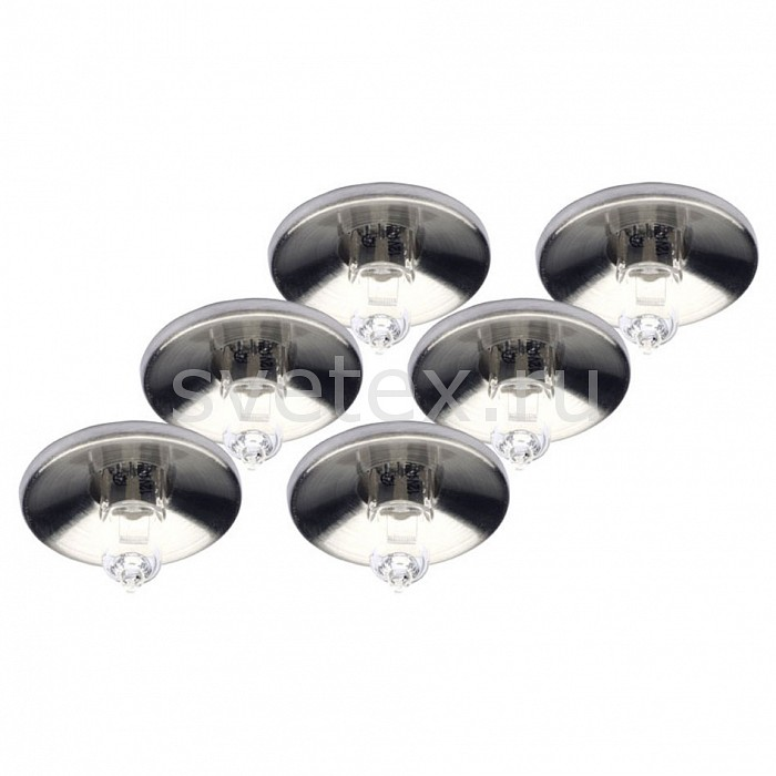 Фото Комплект из 6 встраиваемых светильников Brilliant Lyra G94530/13