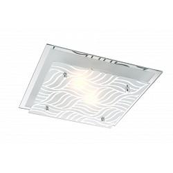 Накладной светильник GloboКвадратные<br>Артикул - GB_48161-2,Бренд - Globo (Австрия),Коллекция - Marie I,Гарантия, месяцы - 24,Время изготовления, дней - 1,Высота, мм - 85,Тип лампы - компактная люминесцентная [КЛЛ] ИЛИнакаливания ИЛИсветодиодная [LED],Общее кол-во ламп - 2,Напряжение питания лампы, В - 220,Максимальная мощность лампы, Вт - 40,Лампы в комплекте - отсутствуют,Цвет плафонов и подвесок - белый с неокрашенным рисунком,Тип поверхности плафонов - матовый,Материал плафонов и подвесок - стекло,Цвет арматуры - хром,Тип поверхности арматуры - глянцевый,Материал арматуры - металл,Возможность подлючения диммера - можно, если установить лампу накаливания,Тип цоколя лампы - E27,Класс электробезопасности - I,Общая мощность, Вт - 80,Степень пылевлагозащиты, IP - 20,Диапазон рабочих температур - комнатная температура<br>