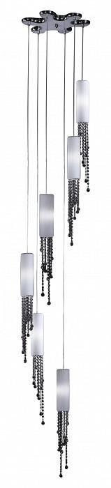 Подвесной светильник Odeon LightПодвесные светильники<br>Артикул - OD_2571_6,Бренд - Odeon Light (Италия),Коллекция - Notts,Гарантия, месяцы - 24,Время изготовления, дней - 1,Высота, мм - 3600,Диаметр, мм - 420,Тип лампы - галогеновая,Общее кол-во ламп - 6,Напряжение питания лампы, В - 220,Максимальная мощность лампы, Вт - 40,Цвет лампы - белый теплый,Лампы в комплекте - галогеновые G9,Цвет плафонов и подвесок - белый, неокрашенный,Тип поверхности плафонов - матовый,Материал плафонов и подвесок - стекло, хрусталь,Цвет арматуры - хром,Тип поверхности арматуры - глянцевый,Материал арматуры - металл,Количество плафонов - 6,Возможность подлючения диммера - можно,Форма и тип колбы - пальчиковая,Тип цоколя лампы - G9,Цветовая температура, K - 2800 - 3200 K,Экономичнее лампы накаливания - на 50%,Класс электробезопасности - I,Общая мощность, Вт - 240,Степень пылевлагозащиты, IP - 20,Диапазон рабочих температур - комнатная температура<br>