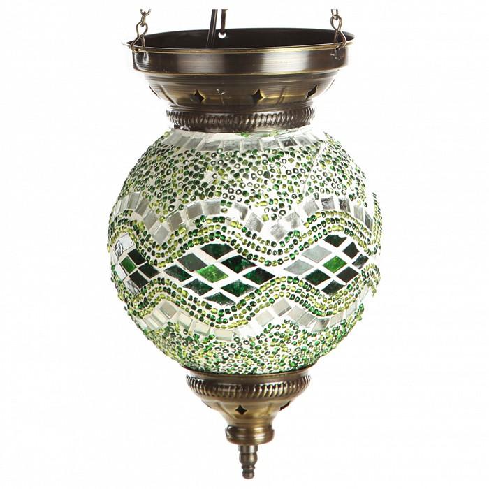 Подвесной светильник Kink LightСветодиодные<br>Артикул - KL_0115.07,Бренд - Kink Light (Китай),Коллекция - Марокко,Гарантия, месяцы - 12,Высота, мм - 600,Диаметр, мм - 150,Тип лампы - компактная люминесцентная [КЛЛ] ИЛИнакаливания ИЛИсветодиодная [LED],Общее кол-во ламп - 1,Напряжение питания лампы, В - 220,Максимальная мощность лампы, Вт - 40,Лампы в комплекте - отсутствуют,Цвет плафонов и подвесок - зеленый с рисунокм,Тип поверхности плафонов - глянцевый, рельефный,Материал плафонов и подвесок - стекло,Цвет арматуры - бронза,Тип поверхности арматуры - глянцевый,Материал арматуры - металл,Количество плафонов - 1,Возможность подлючения диммера - можно, если установить лампу накаливания,Тип цоколя лампы - E14,Класс электробезопасности - I,Степень пылевлагозащиты, IP - 20,Диапазон рабочих температур - комнатная температура,Дополнительные параметры - техника мозаика<br>