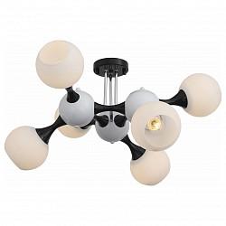 Люстра на штанге ST-Luce5 или 6 ламп<br>Артикул - SL849.542.06,Бренд - ST-Luce (Китай),Коллекция - Edificio,Гарантия, месяцы - 24,Высота, мм - 380,Размер упаковки, мм - 540x540x345,Тип лампы - компактная люминесцентная [КЛЛ] ИЛИнакаливания ИЛИсветодиодная [LED],Общее кол-во ламп - 6,Напряжение питания лампы, В - 220,Максимальная мощность лампы, Вт - 60,Лампы в комплекте - отсутствуют,Цвет плафонов и подвесок - белый,Тип поверхности плафонов - матовый,Материал плафонов и подвесок - стекло,Цвет арматуры - белый, черный,Тип поверхности арматуры - глянцевый, матовый,Материал арматуры - металл,Возможность подлючения диммера - можно, если установить лампу накаливания,Тип цоколя лампы - E27,Класс электробезопасности - I,Общая мощность, Вт - 360,Степень пылевлагозащиты, IP - 20,Диапазон рабочих температур - комнатная температура,Дополнительные параметры - способ крепления светильника к потолку - на монтажной пластине<br>
