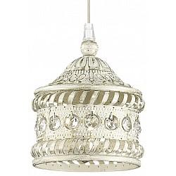 Подвесной светильник Odeon LightБарные<br>Артикул - OD_2840_1,Бренд - Odeon Light (Италия),Коллекция - Bahar,Гарантия, месяцы - 24,Высота, мм - 300-1200,Диаметр, мм - 135,Тип лампы - компактная люминесцентная [КЛЛ] ИЛИнакаливания ИЛИсветодиодная [LED],Общее кол-во ламп - 1,Напряжение питания лампы, В - 220,Максимальная мощность лампы, Вт - 40,Лампы в комплекте - отсутствуют,Цвет плафонов и подвесок - белый с золотой патиной, неокрашенный,Тип поверхности плафонов - матовый, прозрачный, рельефный,Материал плафонов и подвесок - металл, хрусталь,Цвет арматуры - белый с золотой патиной,Тип поверхности арматуры - матовый, рельефный,Материал арматуры - металл,Возможность подлючения диммера - можно, если установить лампу накаливания,Тип цоколя лампы - E14,Класс электробезопасности - I,Степень пылевлагозащиты, IP - 20,Диапазон рабочих температур - комнатная температура,Дополнительные параметры - способ крепления светильника на потолке - на монтажной пластине, регулируется по высоте<br>