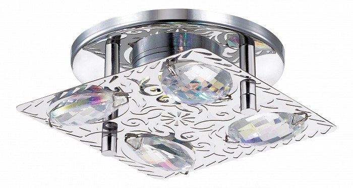 Встраиваемый светильник NovotechСветильники для натяжных потолков<br>Артикул - NV_357147,Бренд - Novotech (Венгрия),Коллекция - Mai,Гарантия, месяцы - 24,Время изготовления, дней - 1,Длина, мм - 90,Ширина, мм - 90,Высота, мм - 68,Выступ, мм - 50,Глубина, мм - 18,Размер врезного отверстия, мм - 60,Тип лампы - светодиодная [LED],Общее кол-во ламп - 6,Напряжение питания лампы, В - 220,Максимальная мощность лампы, Вт - 0.5,Цвет лампы - белый,Лампы в комплекте - светодиодные [LED],Цвет плафонов и подвесок - неокрашенный,Тип поверхности плафонов - прозрачный,Материал плафонов и подвесок - хрусталь,Цвет арматуры - хром,Тип поверхности арматуры - глянцевый,Материал арматуры - металл,Возможность подлючения диммера - нельзя,Цветовая температура, K - 4000 K,Световой поток, лм - 175,Экономичнее лампы накаливания - в 10.3 раза,Светоотдача, лм/Вт - 58,Класс электробезопасности - III,Общая мощность, Вт - 3,Степень пылевлагозащиты, IP - 20,Диапазон рабочих температур - комнатная температура<br>