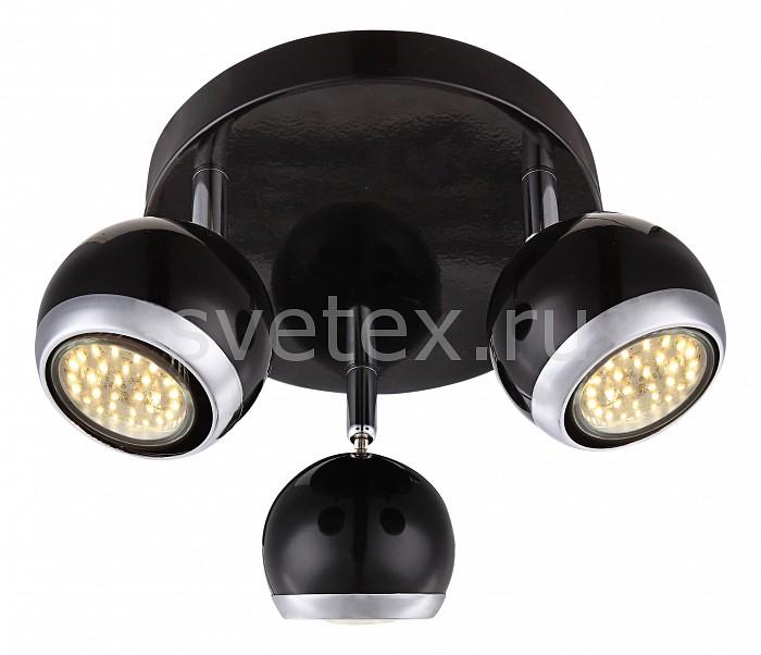 Спот GloboСпоты<br>Артикул - GB_57884-3,Бренд - Globo (Австрия),Коллекция - Oman,Гарантия, месяцы - 24,Выступ, мм - 130,Диаметр, мм - 180,Размер упаковки, мм - 200x200x110,Тип лампы - светодиодная [LED],Общее кол-во ламп - 3,Напряжение питания лампы, В - 220,Максимальная мощность лампы, Вт - 3,Цвет лампы - белый теплый,Лампы в комплекте - светодиодные [LED] GU10,Цвет плафонов и подвесок - черный с хромированной каймой,Тип поверхности плафонов - глянцевый, матовый,Материал плафонов и подвесок - металл,Цвет арматуры - хром, черный,Тип поверхности арматуры - глянцевый, матовый,Материал арматуры - металл,Количество плафонов - 3,Возможность подлючения диммера - нельзя,Форма и тип колбы - полусферическая с рефлектором,Тип цоколя лампы - GU10,Цветовая температура, K - 3000 K,Световой поток, лм - 840,Экономичнее лампы накаливания - в 10.7 раза,Светоотдача, лм/Вт - 93,Класс электробезопасности - I,Общая мощность, Вт - 9,Степень пылевлагозащиты, IP - 20,Диапазон рабочих температур - комнатная температура,Дополнительные параметры - способ крепления светильника к стене и потолку - на монтажной пластине, поворотный светильник<br>